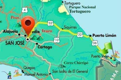 Puerto Viejo Map